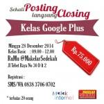 Kelas Google Plus di Tebet Jakarta