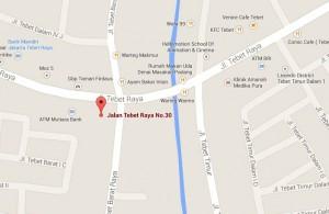 Peta Rumu Tebet, Jakarta Selatan