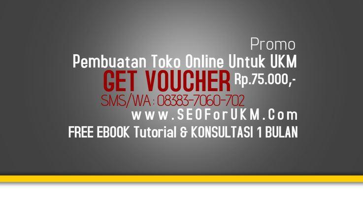 Promo Pembuatan Toko Online Untuk UKM