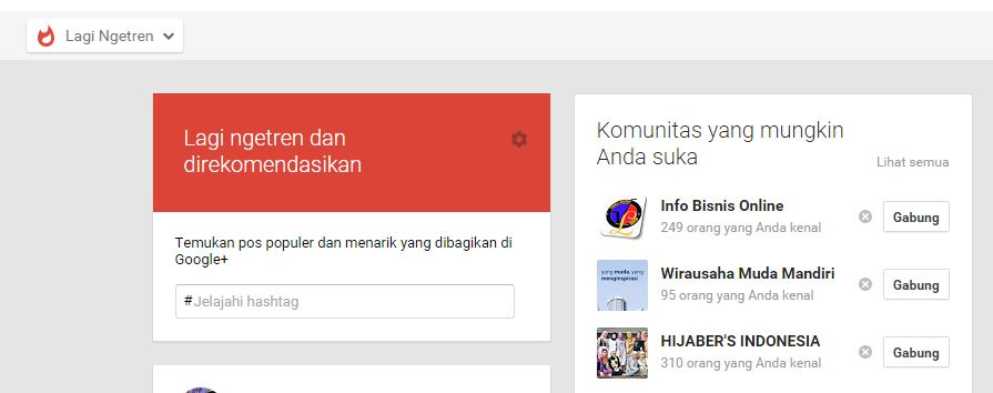 Trending Topic Google Plus