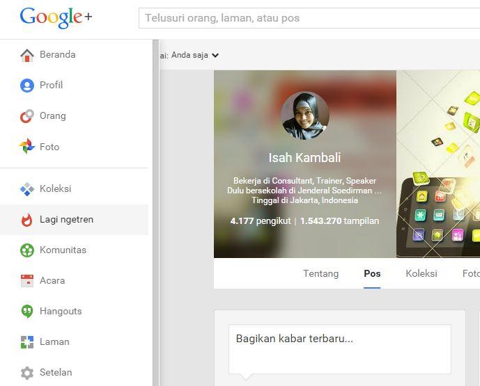 Cek Trending Topic pada Google Plus