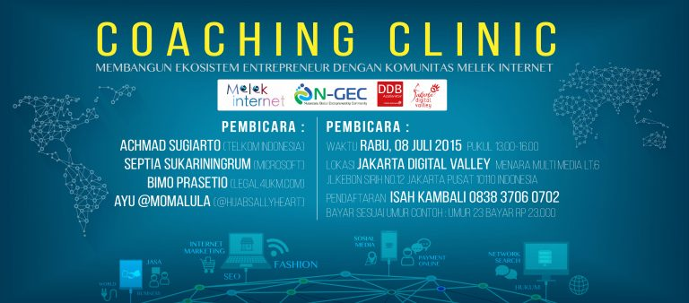 Coaching Clinic Bersama Komunitas Melek Internet dan Telkom