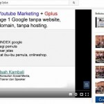 Kelas Online Youtube Marketing dan Google Plus For Business