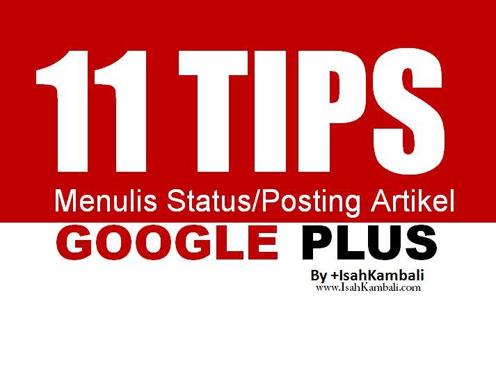 tips google plus isah kambali