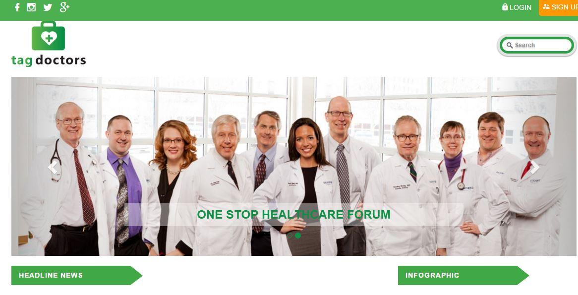 Tagdoctors Website berbasis kesehatan