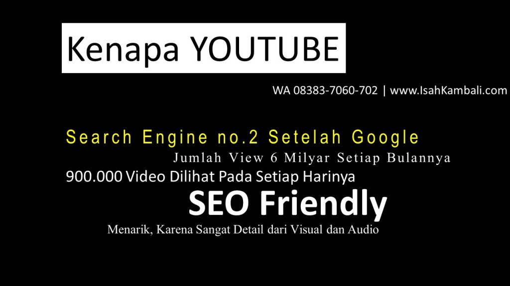 Keunggulan Video Youtube Marketing