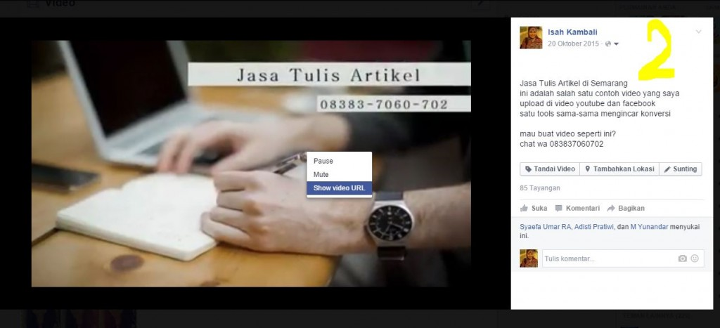 Cara Mudah download video Facebook