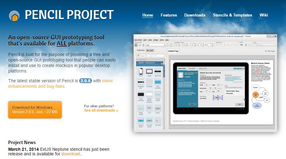 Aplikasi Pencil Untuk Prototype