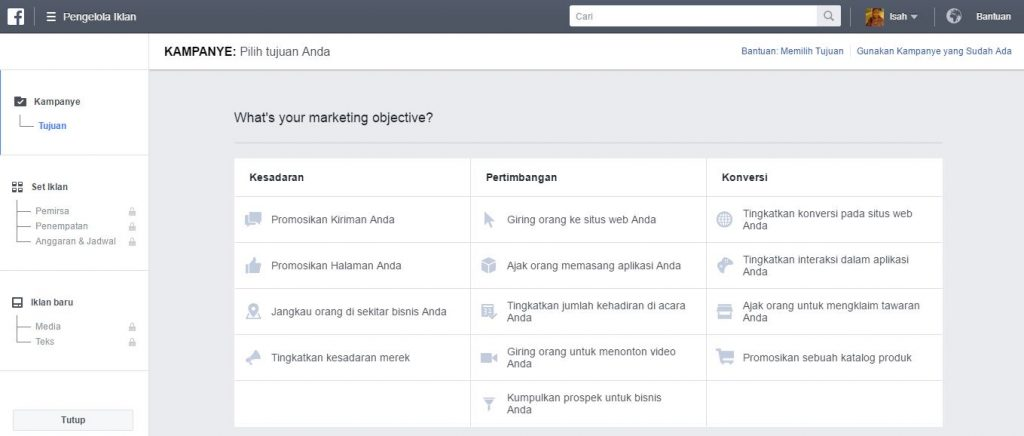 Tampilan Di Facebook Business Manager