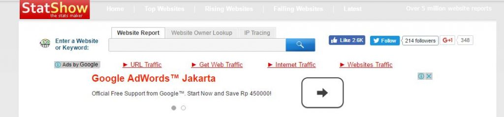 Cara Cek Traffic