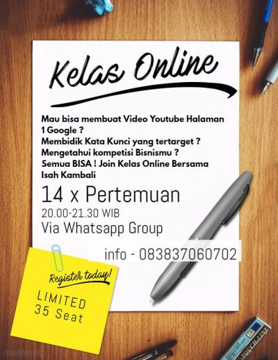 kelas online youtube marketing