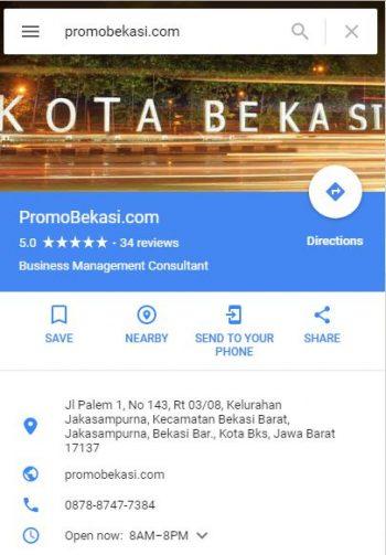 google maps promo bekasi