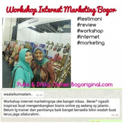 Bikin Sesenggukan, Testimoni Workshop Bisnis Online di Bogor
