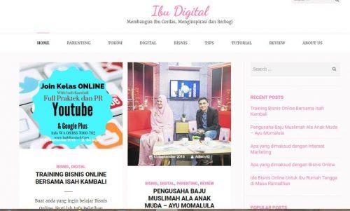 Alhamdulillah Akhirnya Website Ibu Digital sudah siap launching