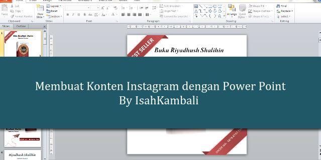 Tutorial Membuat Konten Instagram Menggunakan Power Point